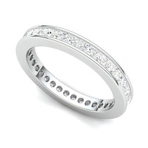 Channel Set Princess Diamond Curved Edge Eternity Ring (1 1/2 ct.)