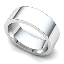Flat Wedding Ring 7mm