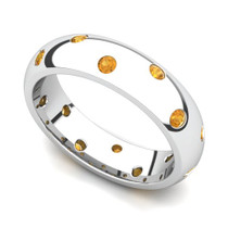 Bezel set Classic Semi Eternity Citrine Ring 5mm