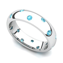 Bezel set Classic Semi Eternity Topaz Ring 5mm