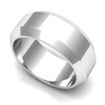 Angled Wedding Ring 8mm