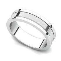 Line Finish Wedding Ring 5mm