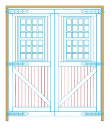 Wide On3 engine shed doors with windows