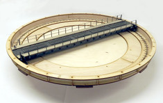 O scale 75ft (23m) turntable. 7mm/ft