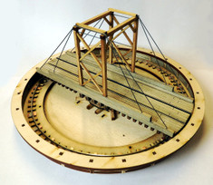 52ft HO/HOn3 gallows turntable