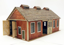 On30 loco backshop. A maintenance shed for your On30 locos