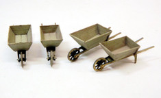 O scale wheelbarrows (kit of 4)