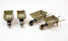 O scale wheelbarrows (kit of 4)