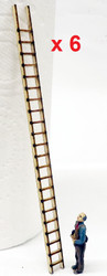 O scale wooden ladders
