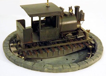 "On30 critter turntable. A motorised 5"" pit turntable for small locos."