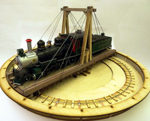 54ft On30 gallows turntable. Fits the largest Bachmann On30 locos