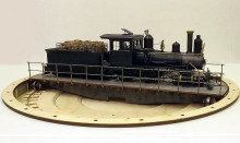 """On30 11 1/4"""" turntable. Very useful for Small tender locos"""