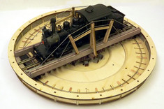 On2 / On30 42ft Truss Turntable Bride wheels missing on this proto picture