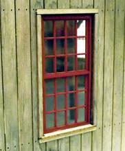 O scale Engine shed windows. 4ft x 8ft
