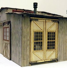 On30 shed doors with glazed windows