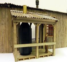 On30 open-style boiler shack