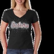 Premium Rhinestone short sleeve shirt