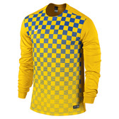 Nike Precision III Jersey - ADULT Long Sleeve Uni Gold/Royal Blue/White