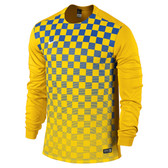 Nike Precision III Jersey - KIDS Long Sleeve Uni Gold/Royal Blue/White