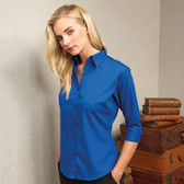 Poplin Blouse - Ladies 3/4 Sleeve