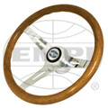 EMPI CLASSIC WOOD STEERING WHEEL w/ HUB (SHIPS FREE TO THE LOWER 48)