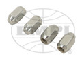 00-9535-0  CHROME LUG NUTS, 1/2x20, ACORN STYLE (SET OF 4)