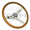 79-4028-0  EMPI 380mm/23mm GRIP CLASSIC WOOD STEERING WHEEL w/ BOSS - SHIPS FREE TO LOWER 48