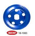 18-1083-0  BILLET ALUMINUM 12-VOLT ALT/GEN PULLEY, BLUE