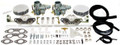 43-7412 EMPI Dual WEBER 34 ICT Kit, 1700-2000cc  Type 2/4 & 914 Engines w/Air Cleaners