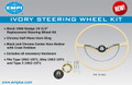 STEERING WHEEL KIT, IVORY