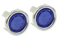 00-9491-0  BLUE DOT W/ CHROME RING (PAIR)
