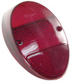 98-1075-0 TAIL LIGHT LENS, L/R, 62-67, RED, (EA)