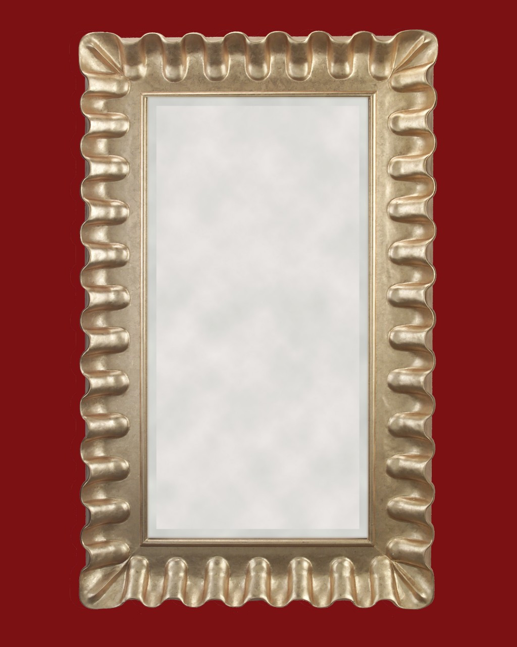 Hand carved frame gold metal leaf art size is 24 x 48 inch for Mirror 48 x 60