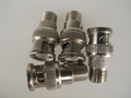 10 Pack Of BNC To F Female Socket Adaptor / Connector / CCTV