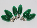 12V 3W 0.25A E10 Green Christmas Lights Spare Bulbs 6 Pack Pifco Dencon Lyvia
