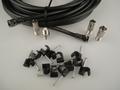 15m Black Universal RF Coax Aerial Satellite Sky Cable TV Extension Lead Kit