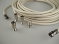 15m White Universal RF Coax Aerial Satellite Sky Cable TV Extension Lead Kit