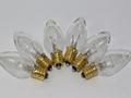 6 x 12V 3W 0.25A E12 Clear Christmas Lights Spare Bulbs Pifco Dencon 795WC