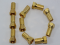 10 x Gold Plated 6.4mm Twist On F Plug Satellite Connector Sky Virgin RG6, WF100
