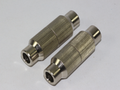 2 x Metal Coax Aerial Satellite Cable Joiner For RG6 WF100 & Most Coaxial Cables