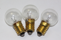 3 x Krypton Miners Lamp E10 Round Bulb, 2.4V, 1A, 2.4W, Emergency Light & Torch
