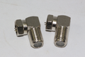 2 x Right Angle / 90 Degrees Satellite Male F Plug Low Profile Adaptor