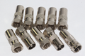10 x Male F Plug to Coax Coaxial Male Adaptor, Eurovox, D Box, Satellite etc