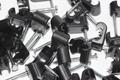 100 x Black Twin Satellite Shotgun Cable Clips, Sky Plus, Sky HD, CB63R, WF65