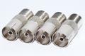 4 x Satellite F Socket to Female Coax Plug Adaptor Converter Connector