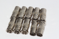 10 x Male F Plug to Coax Coaxial Female Adaptor, Eurovox, D Box, Satellite etc