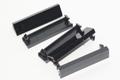 5 x Philex Quarter Width 12.5mm x 50mm Black Modular Blanking Blank Plate