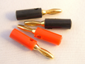 Banana Speaker Plugs 4mm Gold Plated 2 x Red 2 X Black