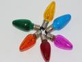 20V 3W 0.15A E10 Coloured Christmas Lights Spare Bulbs 6 Pack Pifco Dencon 784C