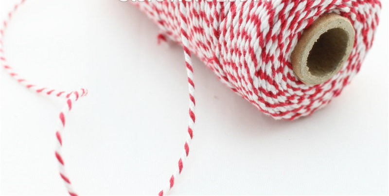 original bakers twine red and white usa made